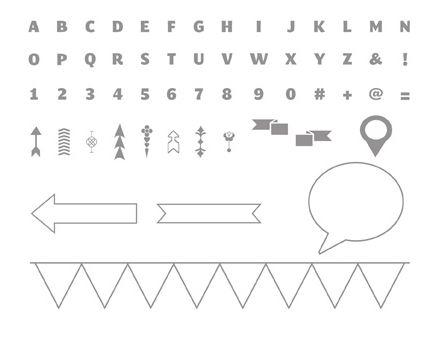 Designer Typeset Stamp Brush Set - Digital Download  134597  ~ Price: $9.95