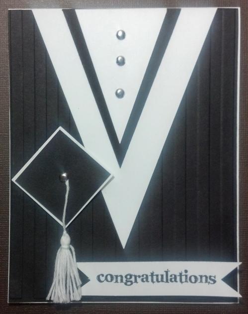 Black & White Cap & Gown Card