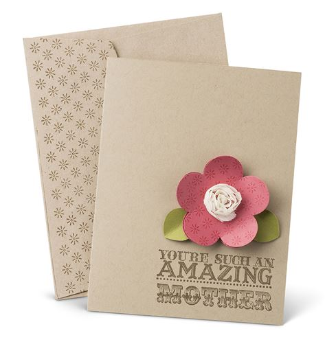 M Day Card and Envelope