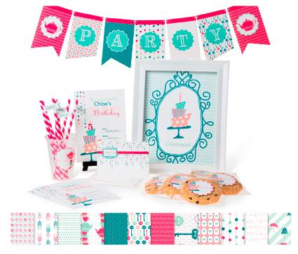 Wonderland Party Ensemble - Digital Download  134594  ~ : $14.95 Following is the Stamp Brush Set, Embellishments, Designer Series Paper, Banners, Invitation and Thank You Card