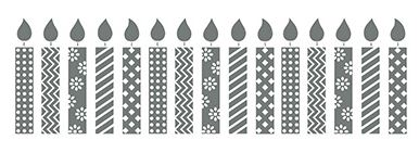 Birthday Candles Stamp Brush - Digital Download - 134921
