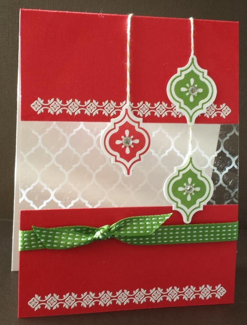 Connie Hobbs designed this great Christmas Card using the specialty paper for the Quatrefancy Designer Series Paper set.