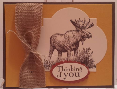 This is a really nice Autumn card or Man card made by Michelle Philips