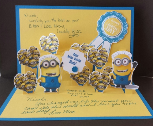 Minions! Excuse the writing, I forgot to take a picture before that!