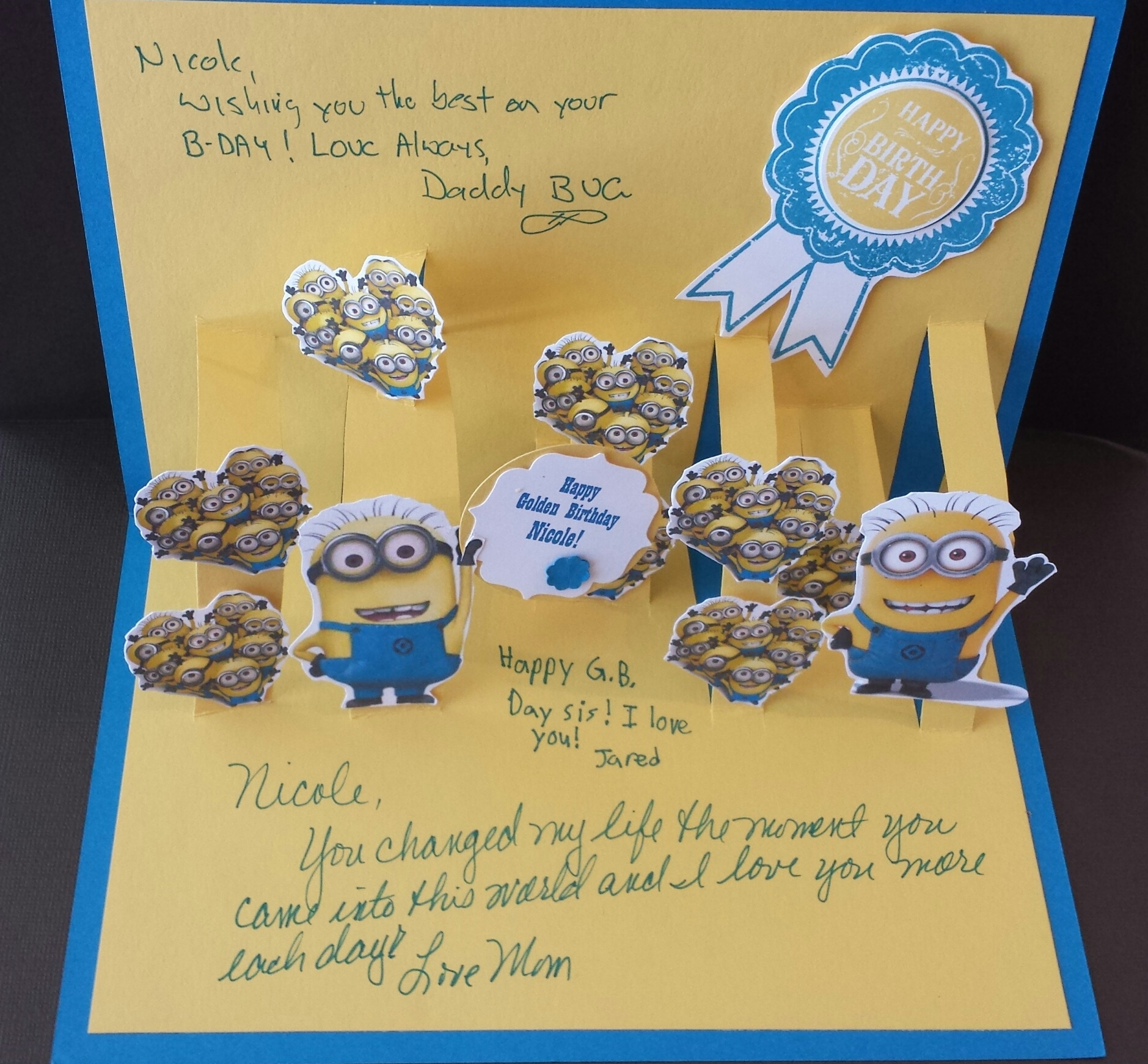 Minion Fan Golden Birthday How Could I Resist Stamping All