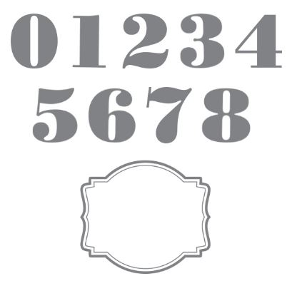 Morning Post Numbers Stamp Brush Set Digital Download  136676   Price: $6.95