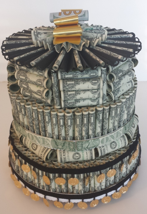 Dollar Cake For Graduation