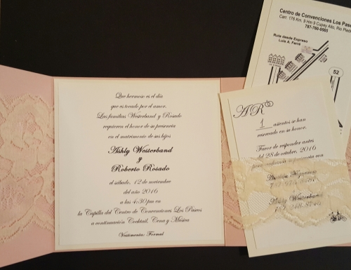 Inside of Wedding Invitation