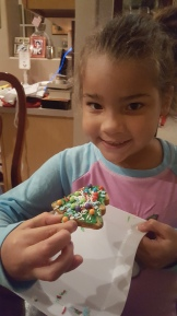 Reina's 2nd cookie creation.
